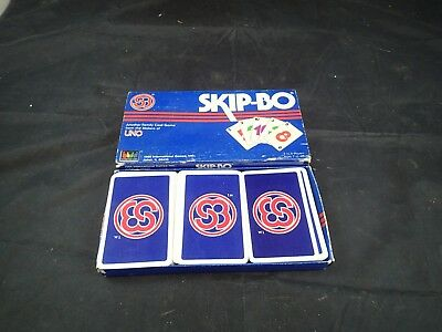 Skip Bo Vintage Card Game 2 6 Players By Uno With Original Box And