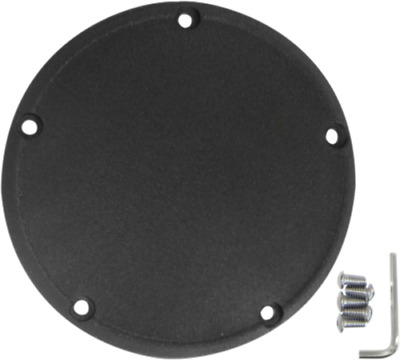 Drag Specialties black wrinkle finish 5 hole derby cover 99-16 Harley Twin Cam