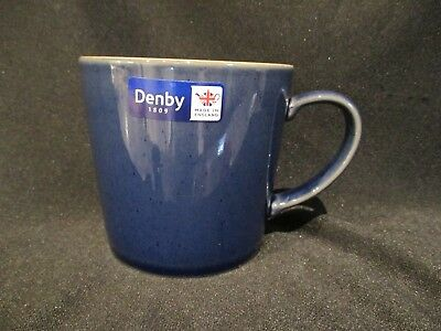 Denby HARLEQUIN - Large Coffee Mug Blue and Red - BRAND NEW