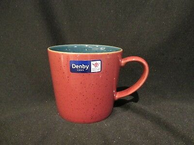 Denby HARLEQUIN - Large Coffee Mug Red and Green - BRAND NEW