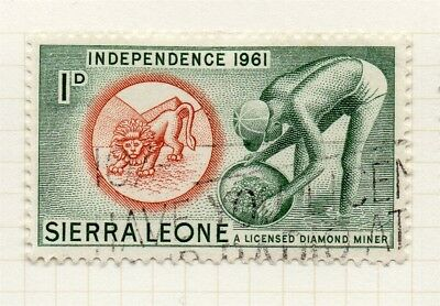Sierra Leone 1961 Early Issue Fine Used 1d. 215201