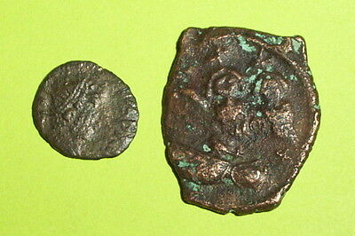 COLLECTION Ancient ROMAN & BYZANTINE ERROR COINS double strike lot goddess old