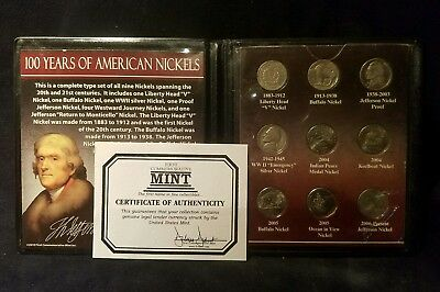 100 Years of American Nickels First Commemorative Set