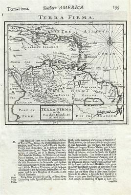 1701 Moll Map of the West Indies and Northern South America