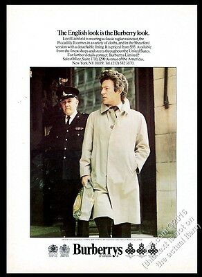1975 Burberrys mans trenchcoat trench coat Lord Lichfield photo vintage print ad