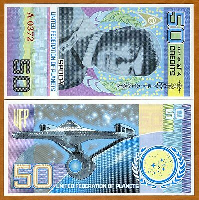 United Federation of Planets, 50 Credits, private issue, Hybrid Polymer, 2017