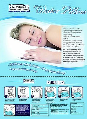 Chiropractic Water Pillow by Mr Waterbed