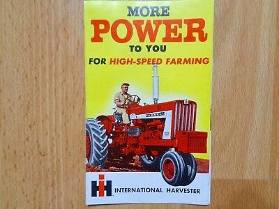 Vintage IH 706 806 tractor More Power brochure fold out graphic VG condition *