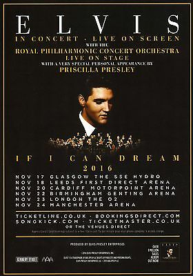 Elvis In Concert With Royal Philharmonic Concert Orchestra 2016 Flyer.