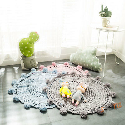 "31""*31"" Baby Kids Floor Soft 80CM Play Knitting Mat Blanket Rug Carpet Props"