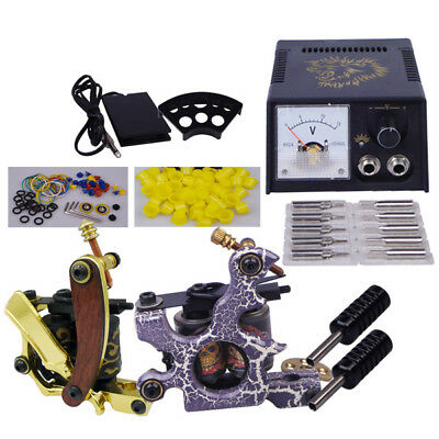 Complet Kit de Tatouage 2 Tattoo Machine Gun Alimentation