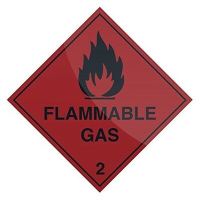 Fixman Flammable Gas Sign 100 x 100mm Self-adhesive - Flammable Gas