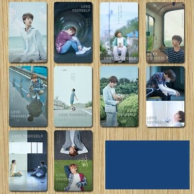 2018 BTS NEW Matting Meal Card Sticker Cell Phone Sticker 8.6*5.4cm 10PCS 97K