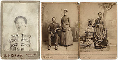 Three Michigan Late 19th Century African-American Cabinet Cards