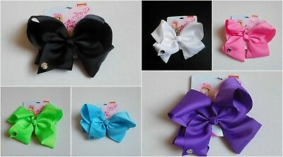 NEW JOJO Siwa Signature Hair Bow Spring Colors Green Pink Purple Blue White