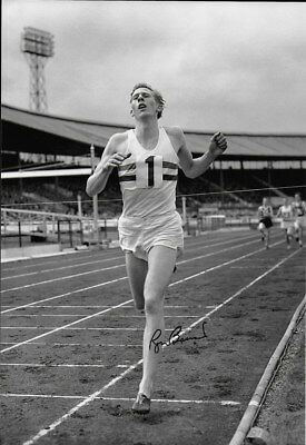 SIR ROGER BANNISTER - personally signed 12x8 - 4 minute mile