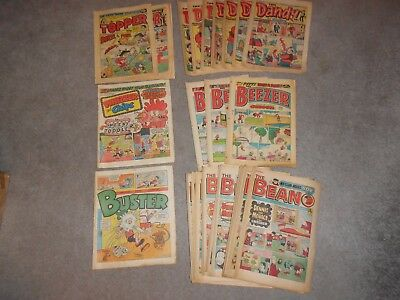 JOBLOT OF 45 MIXED Beano Dandy THE TOPPER BUSTER WHIZZER AND CHIPS comics UK