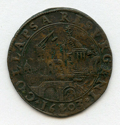 Spanish Netherlands 1603 Issue Anglo Spanish War Jeton Rare.