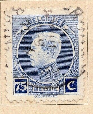 Belgium 1922-25 Early Issue Fine Used 75c. 214053