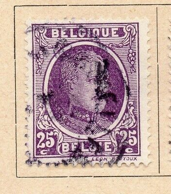 Belgium 1922-25 Early Issue Fine Used 25c. 214047