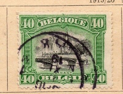 Belgium 1915-20 Early Issue Fine Used 40c. 213996