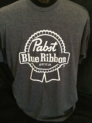 Pabst Blue Ribbon Beer T-shirt Size XL PBR Dark Blue Heather
