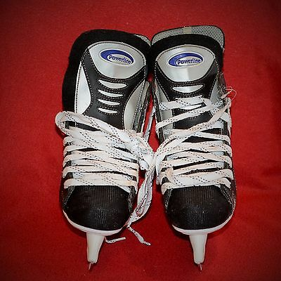 * Patin A Glace Hockey * Ccm * Powerline 600 T4-9 1/3 A27 Occasion Très Bon Etat