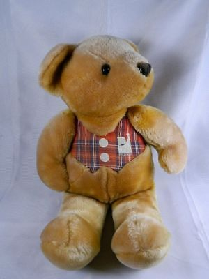 "Peerless Carpet Teddy Bear Golden Plush 18"" Stuffed Animal Toy"