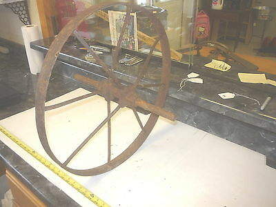 Old Iron Antique Farm Wheelbarrow Wheel Craft & Garden Project # Z