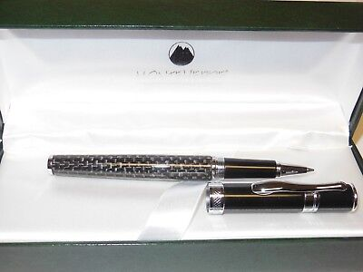 Monteverde Jewelria Round Rollerball Pen, Carbon Fiber Black, New In Box