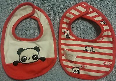 Gymboree BRAND NEW BABY HAPPY PANDA Pink Panda Reversible Bib NWT GIRLS