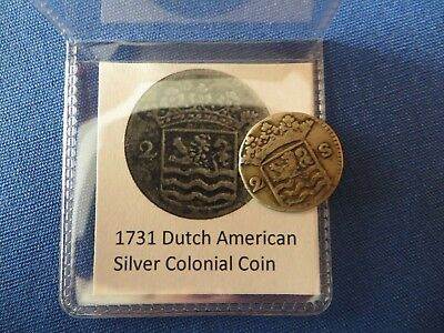 1731 Silver Early American Colonial Coin Before US Minted Coins 287 Years Old!
