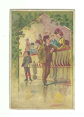 Old Trade Card FD Hall Engravers Stationery Baltimore MD Roller Skating Rink