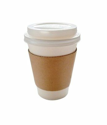 50 Sets Coffee Cups Disposable with Lids   Sleeves Hot Coffee Cups with Lids ...