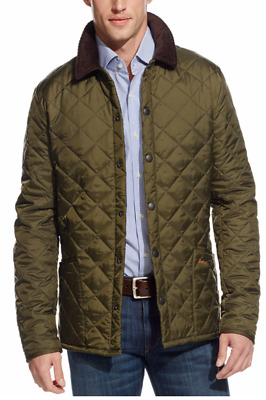 Barbour Men's Heritage Liddesdale Quilted Olive Green Jacket