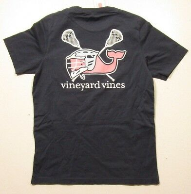 Vineyard Vines Boys Blue Blazer Lacrosse Helmet Whale Pocket Short Sleeve Shirt