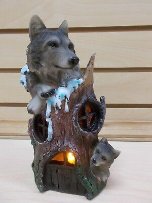 Sw-58 Wolf Night Light Table Stand Statue Figurine Decoration