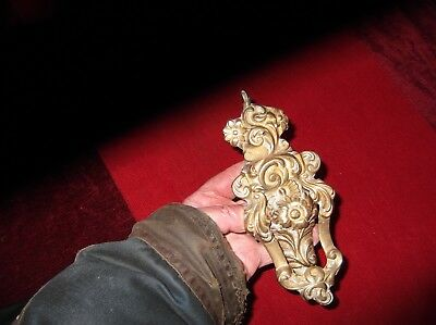 Antique Large Heavy Brass Classic Scroll Door Knocker/gothic Style Door Striker