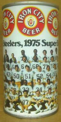 IRON CITY BEER ss 12oz CAN 1975 PITTSBURGH STEELERS Football PENNSYLVANIA 1+ T.O