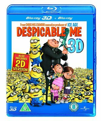 DESPICABLE ME 3D + 2D Blu-Ray BRAND NEW Free Shipping - USA Compatible