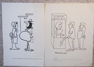 2 For 1 DON deLORIMIER ORIGINAL SEX TO SEXTY CARTOON  ART