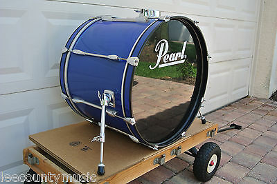"""ADD this PEARL EXPORT SERIES 22"""" BLUE BASS DRUM to YOUR DRUM SET TODAY! #T711"""