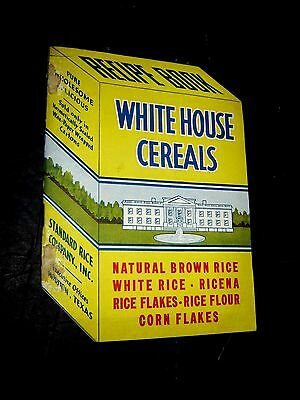 RARE Vintage Standard Rice Co White House Cereals Box Shaped Recipe Book