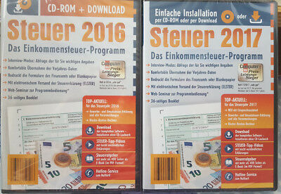 neu ovp aldi steuer 2017 steuererkl rung steuer cd download sparer software eur 7 19. Black Bedroom Furniture Sets. Home Design Ideas