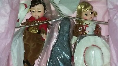 """MADAME ALEXANDER Doll Grand Ole Opry Duet DOLLS SET 8"""" WITH Guitar & hats RARE"""