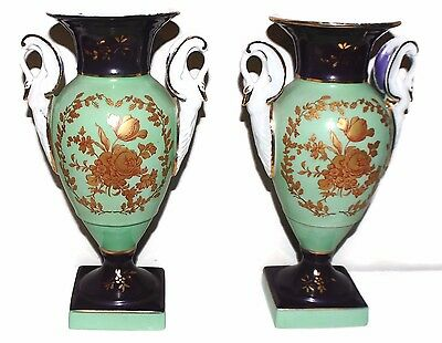 $445 Beautiful Pair Of Antique French Limoges Vases