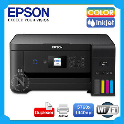 Epson EcoTank ET-2750 3in1 Wireless Refillable/CISS Ink Tank Printer+AirPrint