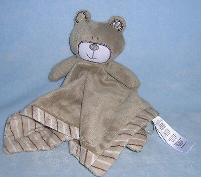 Koala Baby Brown Tan BEAR LOVEY Patches Stripes Toys R Us Security Blanket