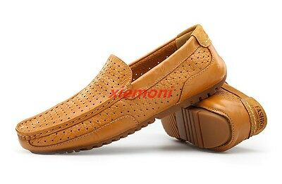 Spring Loafers Mens Casual Driving Gommino Shoes Formal Slip On Low Top Hollow
