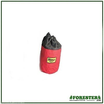 """Arborist Climbing Rope Storage Bag 9"""" High, Color: Red, Keeps Rope Clean"""